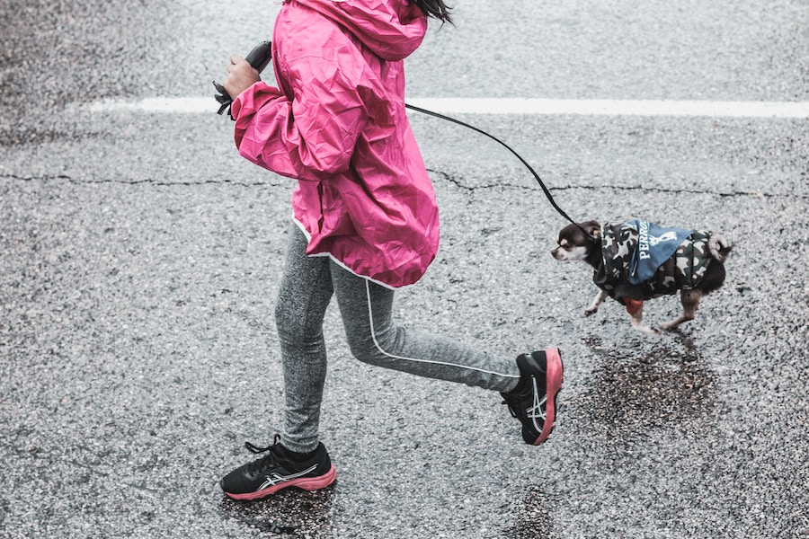 Woman running while supporting favorite charities