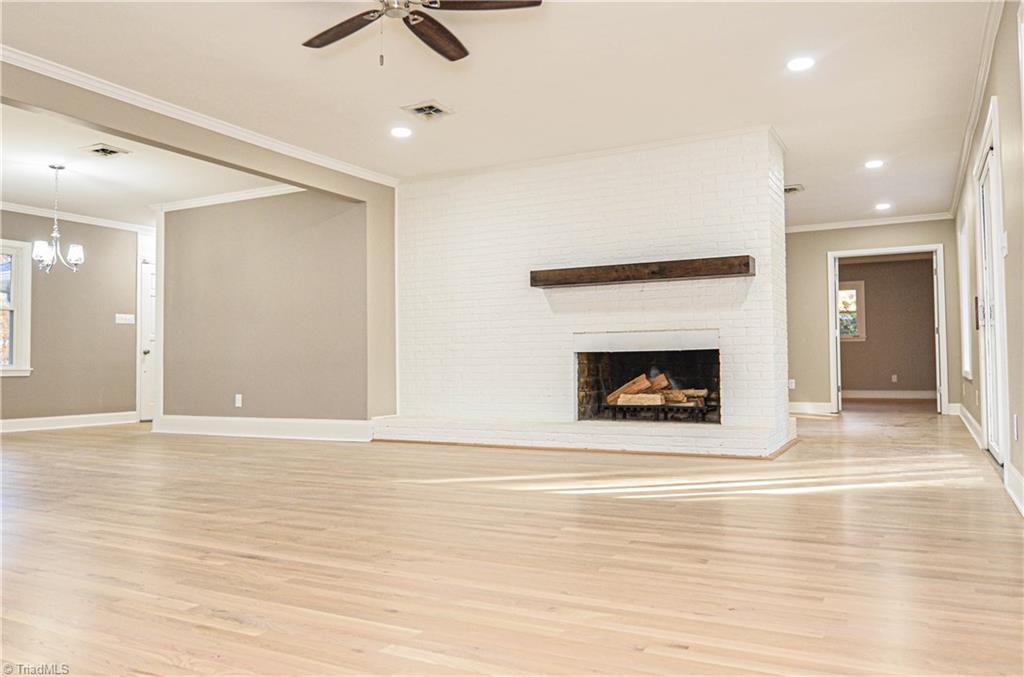 300 Friendship Circle living room and fireplace