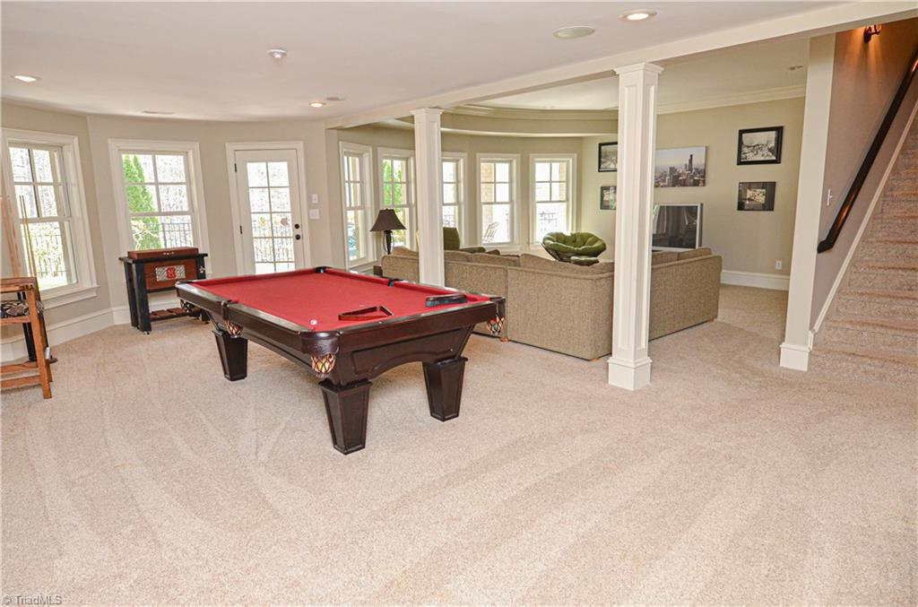 Recreation room in a home